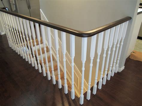wooden stair banisters and railings modern home designs steep stairs white painted stair railing sleek wood floor living