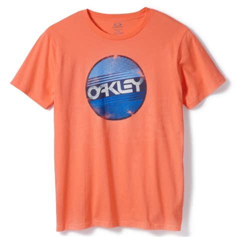 oakley square me t shirt coral glow free uk delivery oakley factory circle t shirt coral glow dirtbikexpress