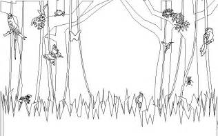 Background Coloring Pages free jungle background coloring pages