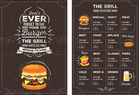 contoh daftar menu makanan  desain menarik uprintid