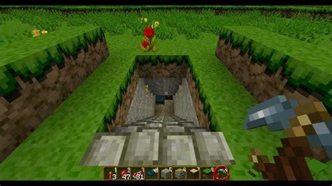 haus unter der erde bauen minecraft geheimgang geheimversteck mit doppelter breite