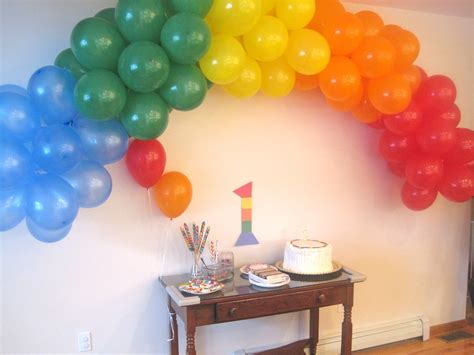 birthday themes with balloons a colorful 1st birthday party rainbow party theme hip