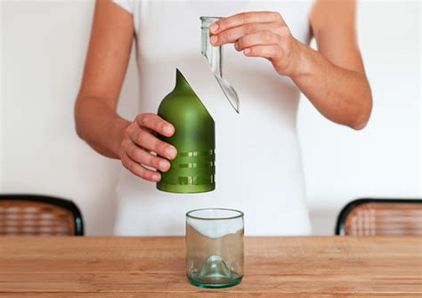 How To Make A Bottle L by Bottle Is A Recycled And Recyclable Table Set Made From A Single Wine Bottle Inhabitat