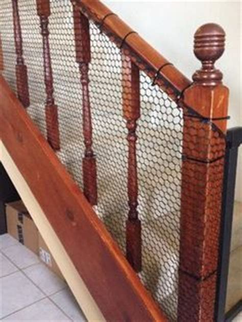 banister safety guard cheap way to child proof a stairway with banisters which