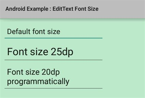 android layout xml text size how to change edittext font size in android