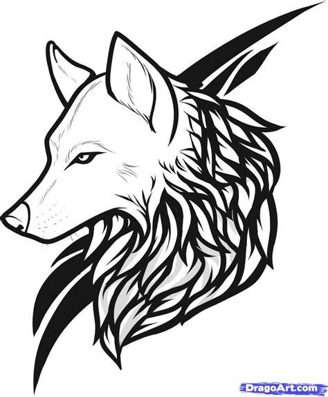 tribal pattern wolf walking tribal wolf tattoo design stencil golfian com