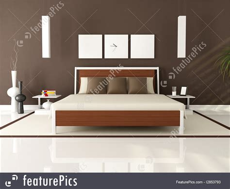 modern bedroom brown interior architecture brown modern bedroom stock illustration i2853793 at featurepics