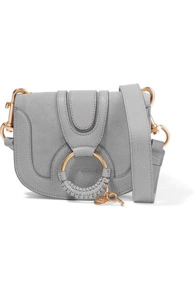 Mini Hana see by chlo 233 hana mini textured leather and suede shoulder bag net a porter