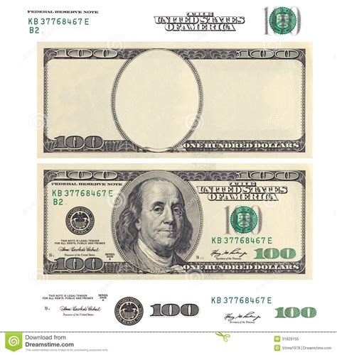 best photos of 100 dollar bill clip template blank 100