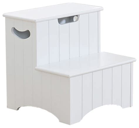 bedroom step stool with storage khome white finish wood bedroom step stool with storage