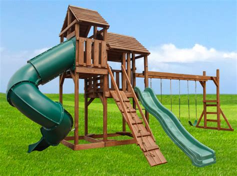 swing and slide monkey bars adventure manor playset