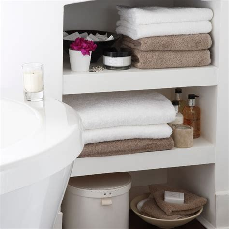Shelving For Small Bathrooms Small Bathroom Storage Area Bathroom Shelving Ideas 10 Of The Best Housetohome Co Uk