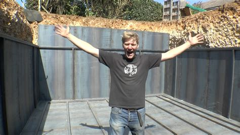 how to build a bunker in your backyard colin furze builds apocalypse proof bunker in back garden