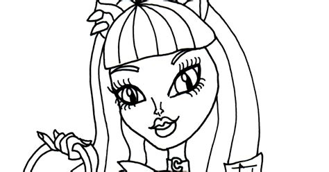 free printable monster high coloring pages catty noir