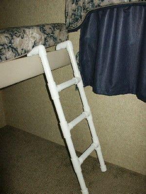Pvc Ladder For Bunk Bed In Our Cer No More Kids Trailer Bunk Bed Ladder