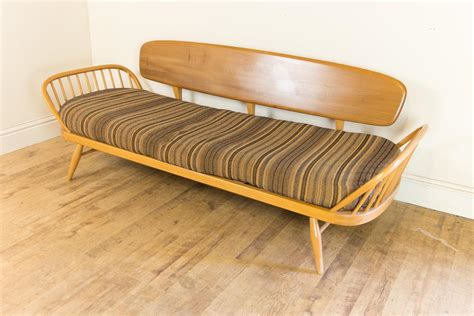 studio couch bed vintage retro ercol light elm day bed studio couch sofa