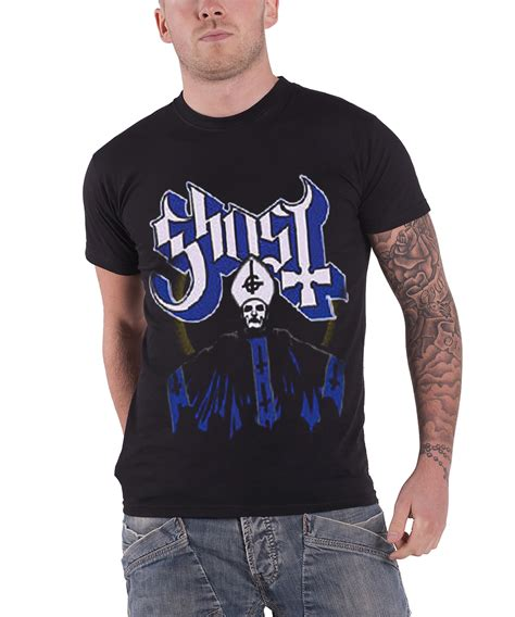 Tshirt Singer Mens Ghosted Roffico Cloth ghost t shirt meliora opus eponymous band logo papa emeritus new official mens ebay