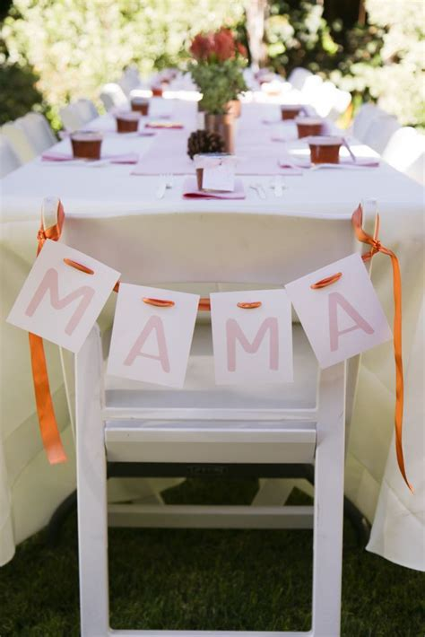 baby shower table decorations 110 best mother s chair baby shower images on pinterest