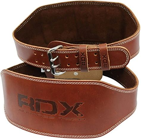 rdx cow hide leather weight lifting 6 belt back support