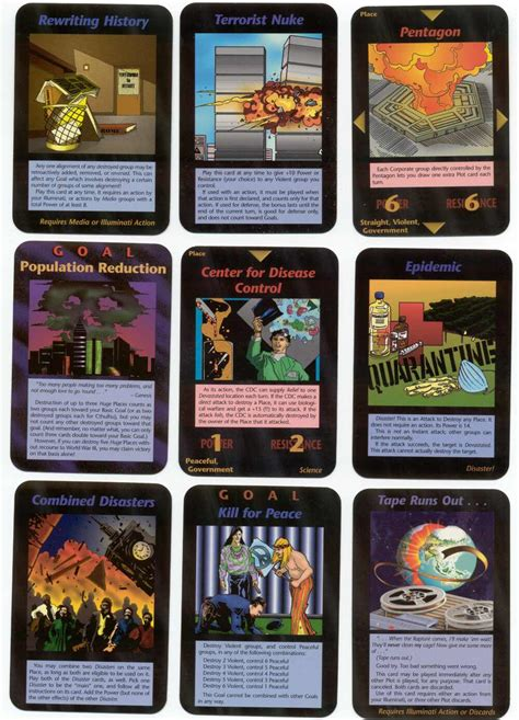 illuminati new world order card all cards massdeceptions elite1995 cards of perdicted chaos