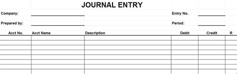 entry journal template for word template journal entry template