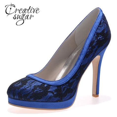 black high heel dress shoes creativesugar lace wedding blue black white