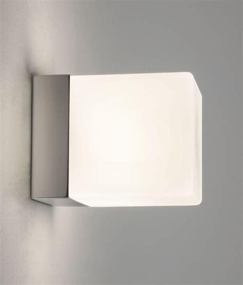 ip bathroom lights square polished chrome white glass wall light