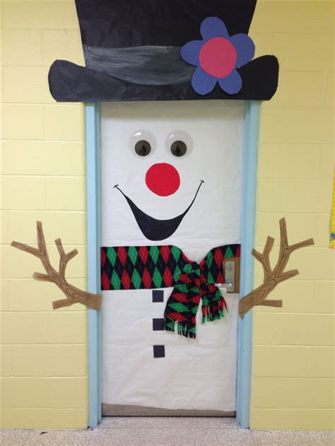 classroom door decoration christmas january pinterest