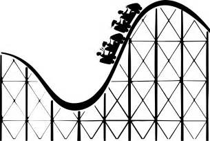 Roller coaster 2 black white line art coloring book colouring coloring