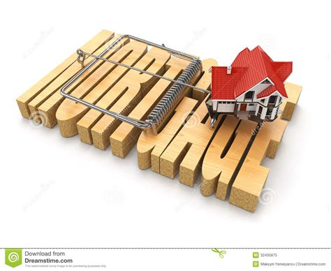 mortgage of house concept of mortgage house and mousetrap royalty free stock photo image 32435875