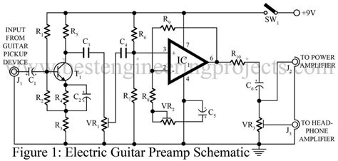 electric guitar pre circuit best engineering projects