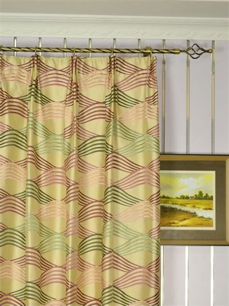 Green Silk Curtains And Green Embroidered Ripple Shaped Versatile Pleat Dupioni Silk Curtains Modern Denver