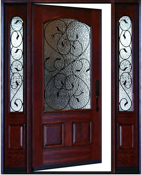 Valencia Front Door Exterior Front Entry Valencia Deluxe Wood Door With Sidelights Left Swing In Traditional Front