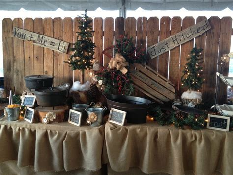 Rustic wedding decor for food table/I am not getting