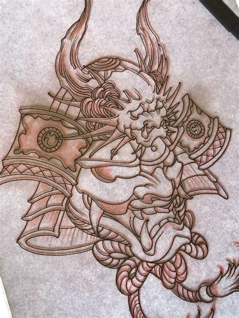 japanese art tattoo designs amsterdam tattoo1825 kimihito samurai mask design