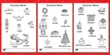 christmas words that start with n words colouring sheets colouring keywords