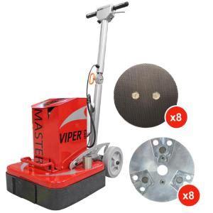 werkmaster viper xti concrete grinder polisher 001 0095 00