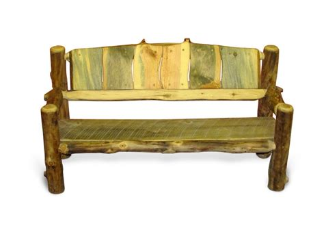 benches made from logs rustic wood bench made from aspen logs sustainable furniture rusti