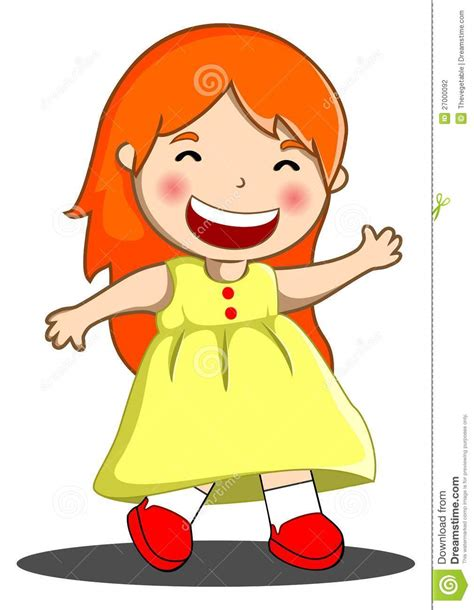 clipart bambino bambina felice fotografia stock immagine 27000092