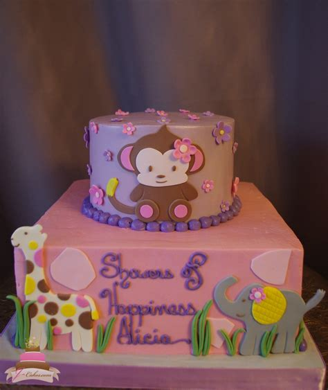Purple Monkey Baby Shower Theme by Baby Showers Jcakes