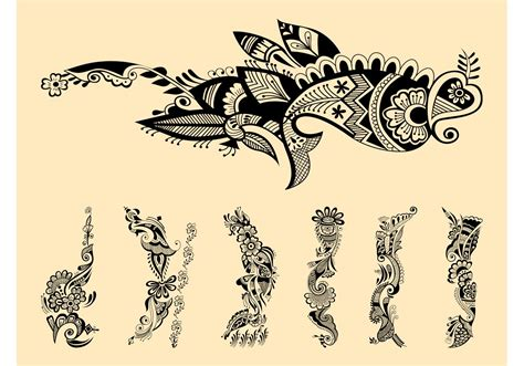 henna tattoo art henna tattoos graphics free vector stock