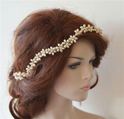jual wedding hair accessories wedding headband bridal pearl hair vine bridal headband