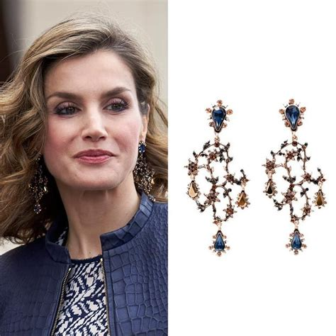 Spanish Style Chandelier Queen Letizia Wears Sparkling 163 12 99 Zara Earrings