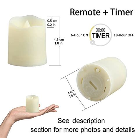 outdoor flameless tea lights with timer flameless candles with remote and timer tealight candles