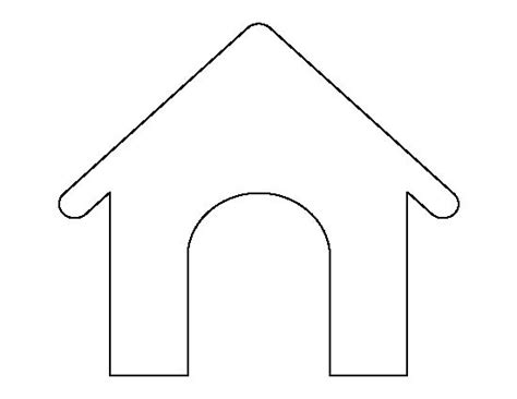 dog house outline dog house pattern use the printable outline for crafts