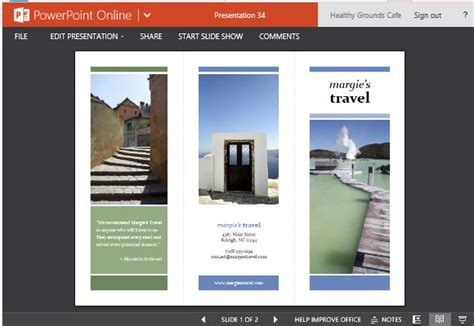 Travel Brochure Maker Templates For Powerpoint Powerpoint Brochure Template