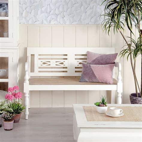 divanetto legno divanetto legno bianco shabby chic mobili legno massello