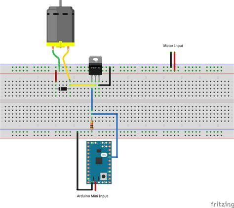 transistor driver arduino drive a motor using an arduino and a mosfet enrico simonetti dot