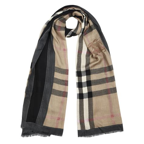authentic burberry haymarket color border scarf