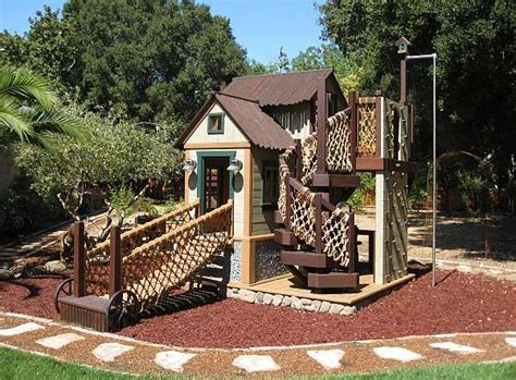 unique backyard play structures 25 best ideas about playhouse for kids on pinterest